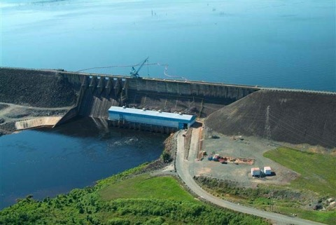 Afobaka hydro-electric power plant