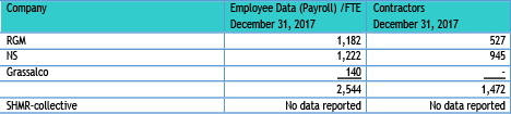 Table 5.18 Employee data mining companies 2017