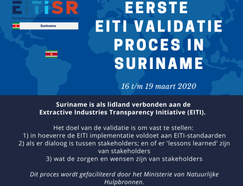 Eerste EITI validatie proces in Suriname