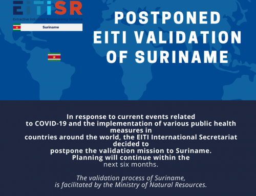 POSPONED EITI VALIDATION SURINAME